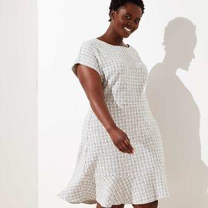 Check Jacquard Waisted Dress! 22 Plus!